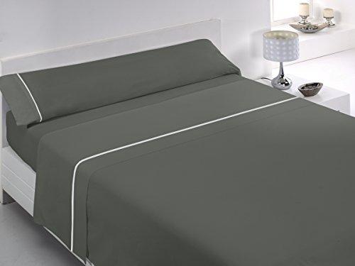 Glam X-Treme-7 - Juego de sábanas para cama de 200 cm, color gris marengo