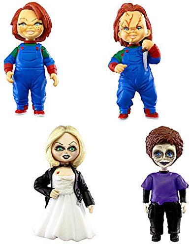 TOMY Chucky Die Mörderpuppe Set 4 Figuren Normale Version Tiffany Glen Collection 5cm Gashapon Schlüsselanhänger Japan