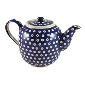 Polish Pottery Boleslawiec Teapot, 1.5L in TADPOLE pattern