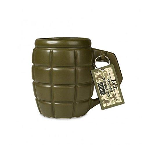 XXL Handgranate Kaffeebecher mit 790ml Fassungsvermögen in olivgrün - XXL Granate Tasse...