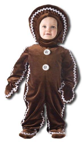 Köstlicher Lebkuchenmann Kinderkostüm Xtra Large (Baby Und Kinder Lebkuchen Kostüme)