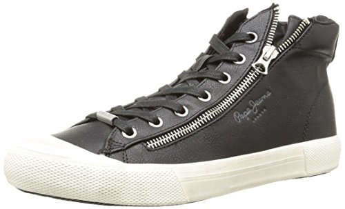 Pepe JeansBrother Zip - Sneaker uomo , Nero (Noir (999Black)), 45