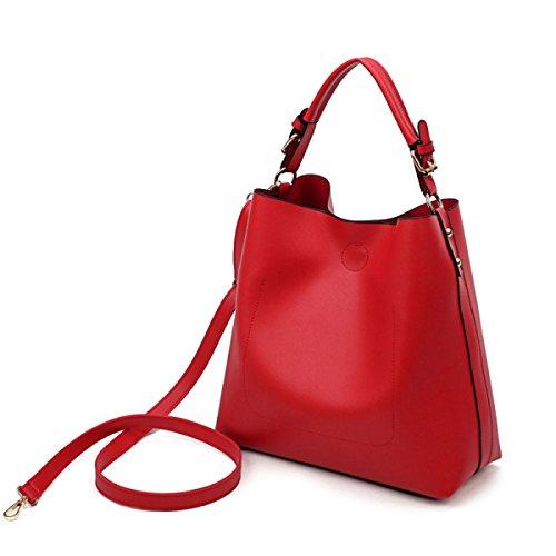 Frau Umhängetasche Kuriertasche Tasche Handtasche Red