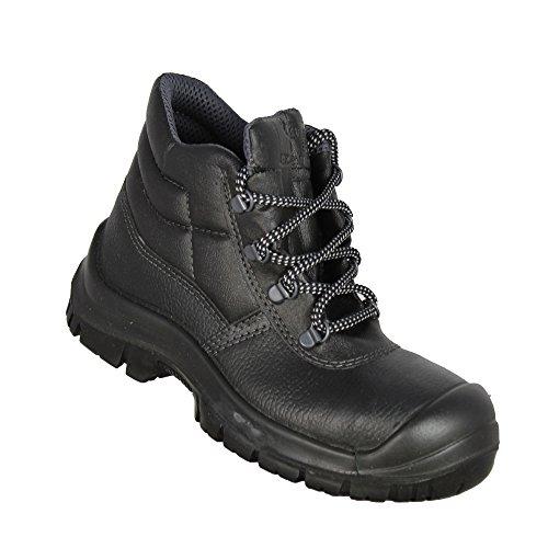 Almar Domo S1P src Chaussures UK travail professionnelle Chaussures Haut Noir Noir