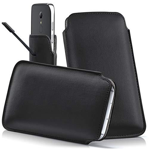 moex HP Elite x3 | Hülle Schwarz Sleeve Slide Cover Ultra-Slim Schutzhülle Dünn Handyhülle für HP Elite x3 Case Full Body Handytasche Kunst-Leder Tasche
