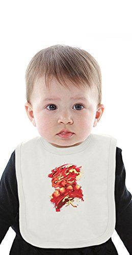 Gouki Red Organic Bib With Ties, Vêtements