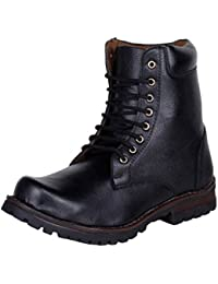 Kraasa Men's Synthetic Leather Combat Boots