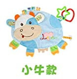 BeesClover Baby Clam Plush Comfort Doll Label Placarders Towel Rattles BB Dispositivo Giocattoli multifunzionali Asciugamano Bambino WJ4110 Cow