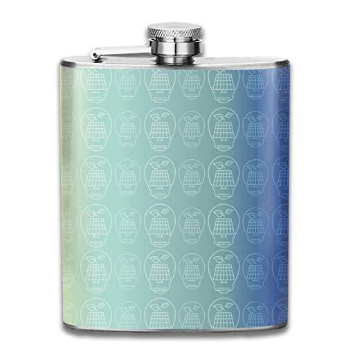 7OZ Edelstahlflasche, kühle Sonnenkollektor-Musterflasche, Flaschen für Herren und Damen