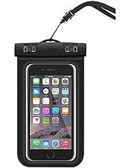 Missofsweet universel durable Coque étanche Underwater Dry Bag pour iPhone 7,7G Plus, 6, 6Plus, 6s, 6s Plus, 5, 5S, 4, Samsung Galaxy S6et S6Edge S5S4téléphone portable Coque, respectueux de l'environnement TPU Construction étanche scellé Système pour bateau/randonnée/natation/plongée, noir