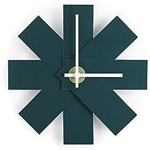 Watch Me Wall Clock Petrol Green Diámetro: 28,5cm