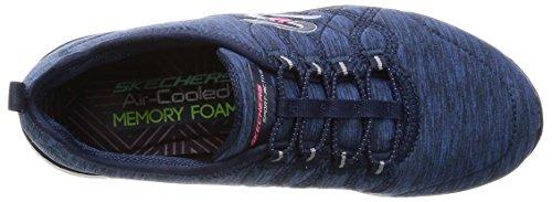 Skechers Microburst Sul Trainer Womens Bordo Blu marino