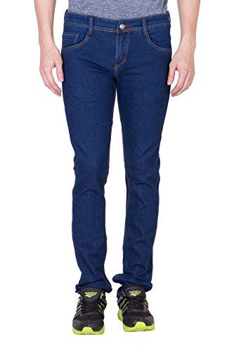 maxxone men's Slim Fit Dark Blue jeans (32)
