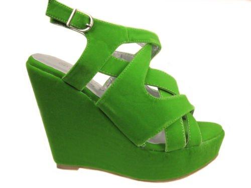 Envy , Semelle compensée fille femme Vert - vert