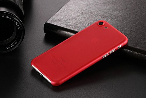 Monkey cases® Ultra sottile silicone opaco Look – Premium – Custodia per Cover – Slim 0,3 Mm Flash rot