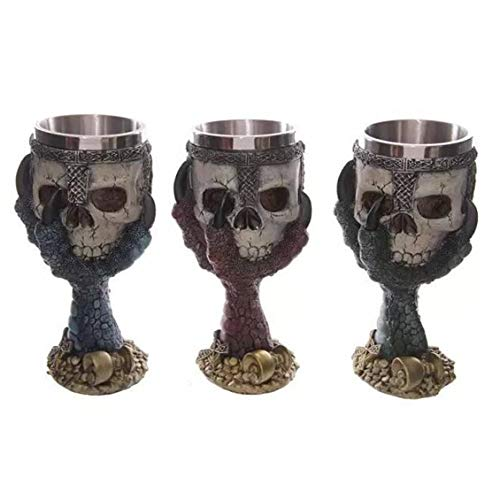 fghdfdhfdgjhh Taza de consumición creativa de la taza de cerveza del cubilete del cráneo del acero inoxidable 3D