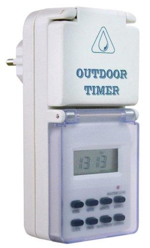 as - Schwabe  Outdoor Zeitschaltuhr digital, mit Wochenprogramm, IP44 - für Aussen, Aussenbereich, Draussen, Garten, Feuchtraum, Nassraum, Innenbereich, Innen 24033 (7 Tage Programmierbare Timer)