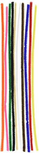 Vaessen Creative 1084-11 Pfeifenreiniger zum Basteln und Dekorieren, Cheniulle, Mehrfarbig, 30 x 0.6 x 0.1 cm, 100-Einheiten - Craft-draht-skulptur