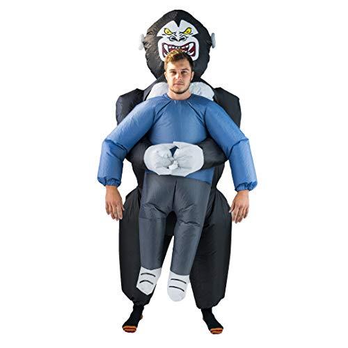 Bodysocks Fancy Dress Aufblasbares Hochhebe Kostüm Gorilla ()