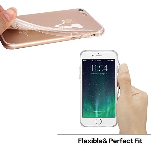 Walmark Case for iPhone 6 Plus -Transparent Silicone Shock Absorption Flexible TPU Rubber Gel Bumper Anti-Scratch Rigid Slim Protective Cases Clear Back Cover for iPhone 6 Plus - White B