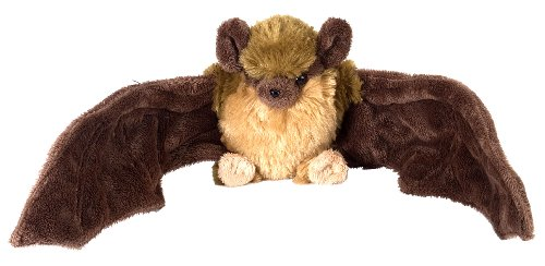 (Wild Republic 12291 Plüsch Braune Fledermaus, Cuddlekins Kuscheltier, Plüschtier, 20cm)