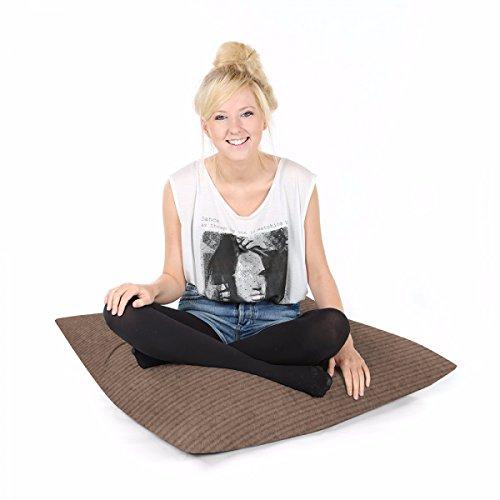 rucomfy Bean Bags Jumbo Cord quadratisch Boden Cushion-Mocha -
