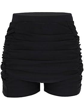 iEFiEL Shorts de Baño Bañador Deportivo Pantalones Cortos de Natación Talla Grande para Mujer Verano Playa