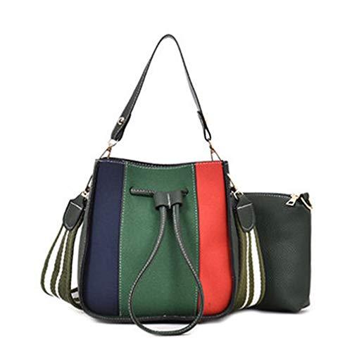 Juicy Couture Tote Handtasche (Marke Frauen Leder Handtaschen Patchwork Tote Bag Green 22x12x22(cm))