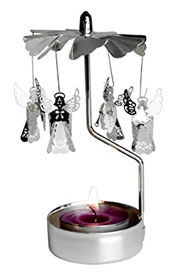 Spinning Silver Angels T-light Holder from dotcomgiftshop