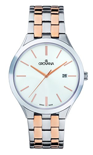 GROVANA Unisex-Adult Analogue Classic Quartz Watch with Stainless Steel Strap 2016.1132