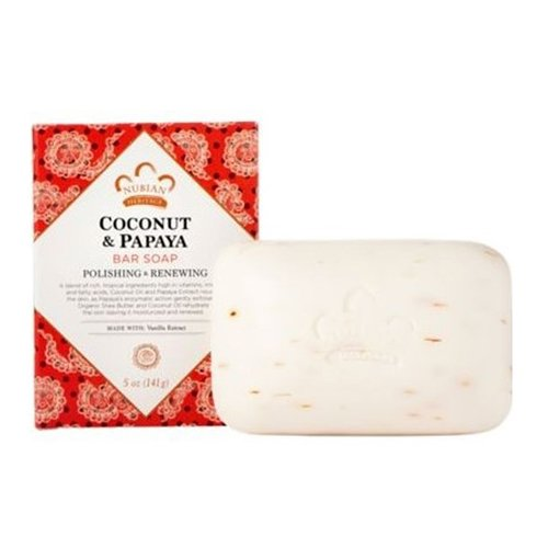 Nubian Heritage - Coconut & Papaya Soap - Kokosnuss & Papaya Seife - 5 Unzen (141g) - Papaya Seife Bars