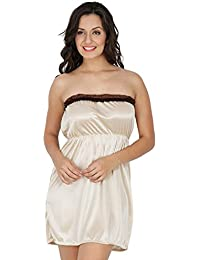 Klamotten Beige Short Tube Women Sleepwear