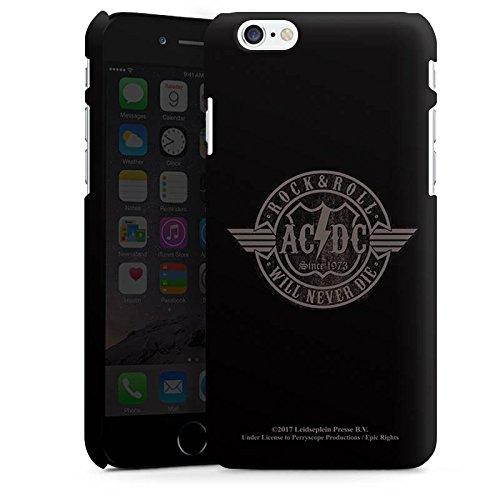 Apple iPhone 8 Silikon Hülle Case Schutzhülle ACDC Rock will never die Merchandise Premium Case matt