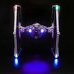 BRIKSMAX Kit di Illuminazione a LED per Lego Star Wars TM Imperial Tie Fighter, Compatibile con Il Modello Lego 75211… 0713721597932 LEGO