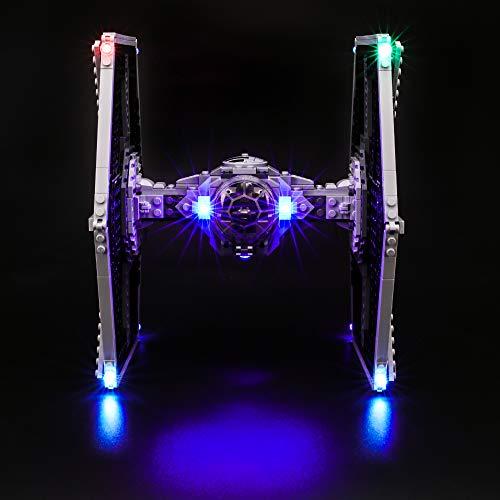 BRIKSMAX Kit de LED pour Lego Star Wars Le TIE Fighter impérial, Compatible avec la Maquette Lego 75211, La Maquette de Construction n'est Pas Incluse