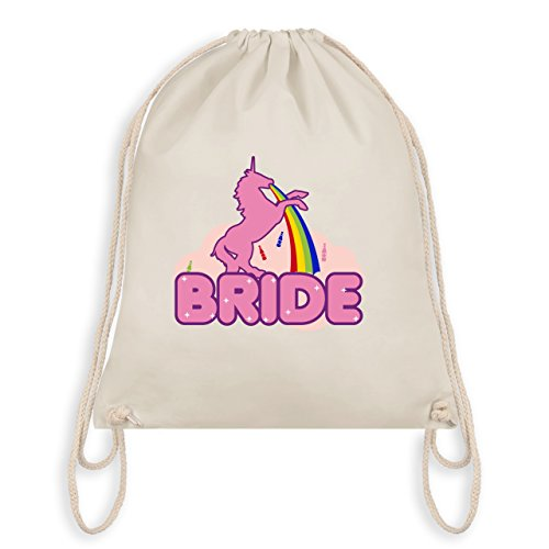 Jga Hen Party - Jga Bride Unicorn - Borsa Da Palestra I Gym Bag Bianco Naturale