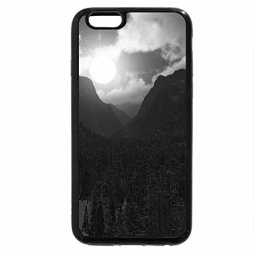 d91a300707b iPhone 6S Case, iPhone 6 Case (Black & White) - moonlight valley