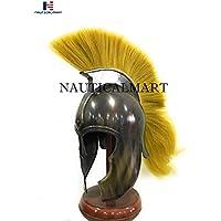 nautique Mart pintade de Troie casque en noir Finition antique