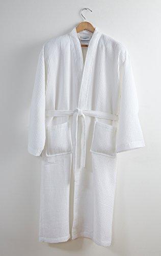 07133760cd84c8 Preiswert 100% Baumwolle Unisex Kimono Waffle weiß Bademantel – Groß ...