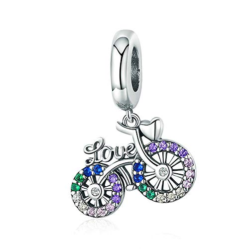 ANLW Fahrrad Charms passen Charms Armband - 925 Sterling Silber Bead Charms, Charms für Armband und Halskette Muttertagsgeschenk