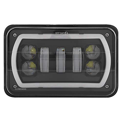 KIMISS Aluminium 4'* 6' inch Truck LED Fanale Quadrato High/Low Beam White Halo