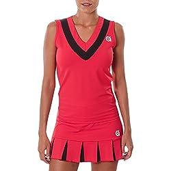 a40grados Sport & Style Cloe - Camiseta sin mangas para mujer, color rojo, talla 40