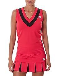 a40grados Sport & Style Cloe maglietta senza maniche, donna, Donna, Cloe, rosso, XS