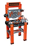 Smoby - 360700 - Établi Bricolo One - Black + Decker - + 79 Accessoires Inclus - + Application Ludo -Educative Dédiée