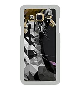 FUSON Tiger Face Graphic Designer Back Case Cover for Samsung Galaxy J3 (6) 2016 :: Samsung Galaxy J3 2016 Duos :: Samsung Galaxy J3 2016 J320F J320A J320P J3109 J320M J320Y