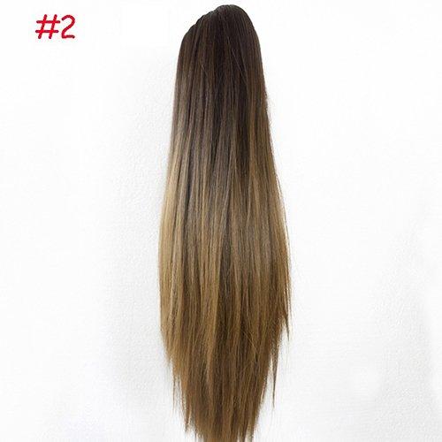 livecity Frauen Claw Clip Lange Gerade Pferdeschwanz Haarverlängerung Perücke Haarteil