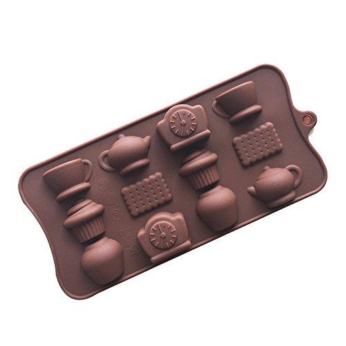 Deanyi stampi per torte in silicone a forma di teglia stampi in silicone per muffin, biscotti, cioccolatini, ghiaccioli