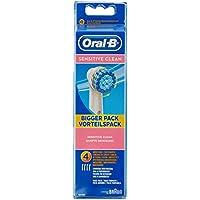 Oral-B EBS17-4 Testine di ricambio Sensitive Clean, confezione con 4 pezzi