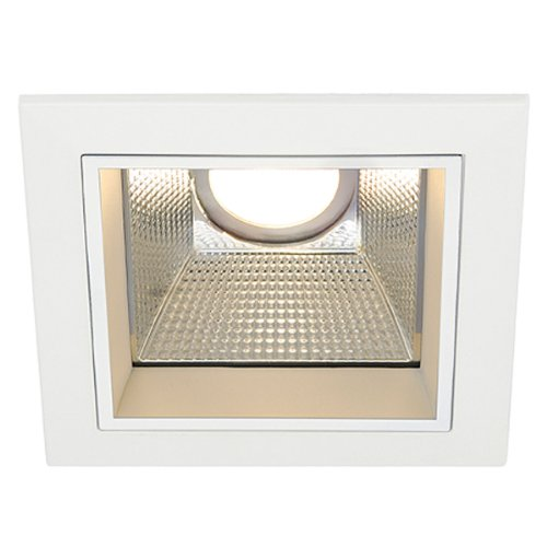SLV 162421 LED Downlight Pro S - Foco led empotrable (cuadrado, aluminio y cristal, 230 V, 14 x 14 x 13,8 cm), color blanco