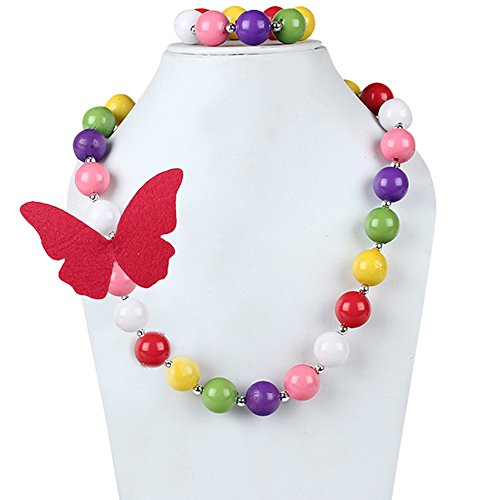 D\'Chica A Springy String Of Beads And Butterflies Kids Jewelry